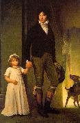 Baron Francois  Gerard Jean-Baptiste Isabey and his Daughter oil painting artist